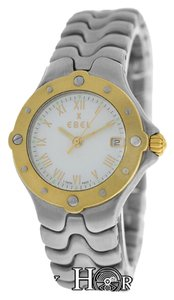 Ebel Authentic Ladies Ebel Sportwave E6087621 18K Yellow Gold Steel Date Quartz Watch
