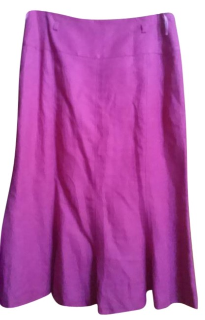 Item - Fuchsia Made In Germany Linen with Flare Skirt Size 10 (M, 31)