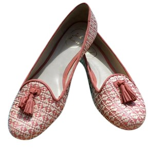 Jack Rogers Tassel Loafers Smoking Palm Beach Raffia and Coral Flats