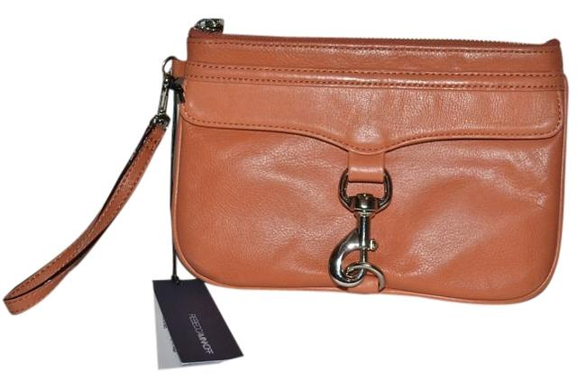 Item - Coral Leather Wristlet