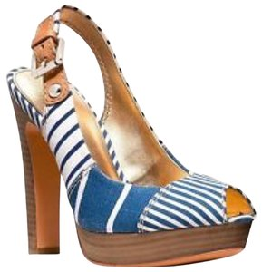 Coach Blue and white Pumps