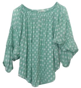 CIEL Polka Dot Flowy Top Light teal