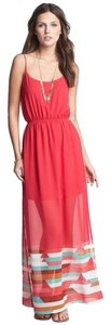 Red Maxi Dress by Fire Maxi Sheer Summer Flowy