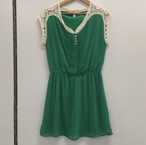 Miami Lace short dress Kelly green on Tradesy