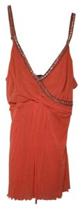 Arden B. Top Orange with Silver Beading