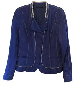 Elie Tahari Detail Fitted Like New Blue Jacket