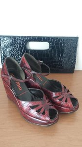 Miu Miu wine Wedges