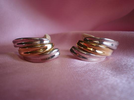 Other Vintage silver & goldtone clip-on earrings