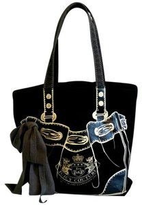 Juicy Couture Canvas Juicy Bow Tote in Black