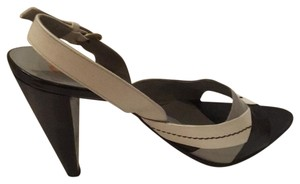 Miu Miu Sling Back Color Blocking Black/white/grey Pumps