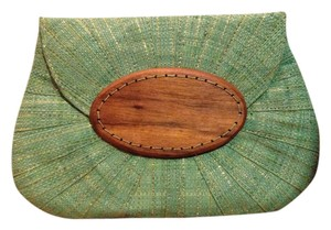 Mar Y Sol Handwoven Turquoise Clutch
