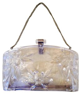 Vintage Lucite Clear Clutch