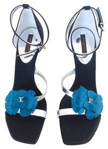 Louis Vuitton Black Silver Turquoise Formal