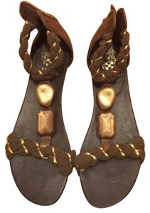 Vince Camuto Green/gold Sandals