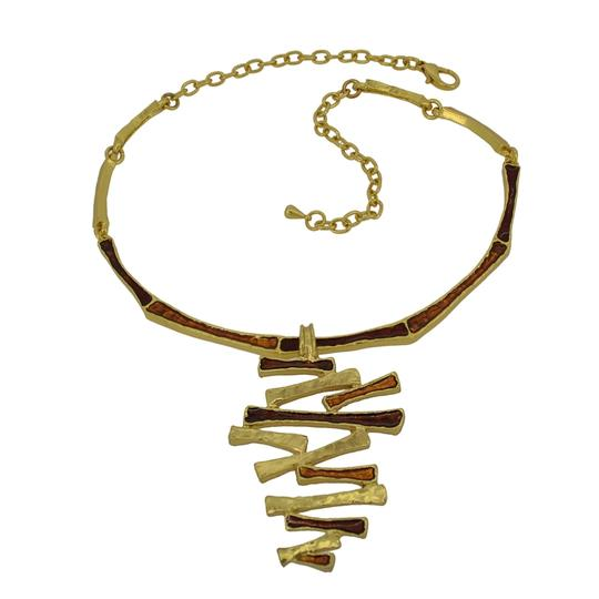 Other 24KT Plated Pewter Enamel Fragmented Kylie Choker Image 1