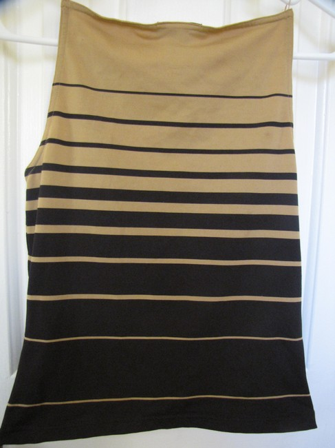 Express Striped Top Beige and Black