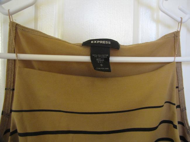 Express Striped Top Beige and Black Image 2