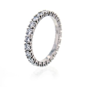 Cartier Eternity Ring 1.60ct Diamond Platinum Wedding Band Size 7 With Box