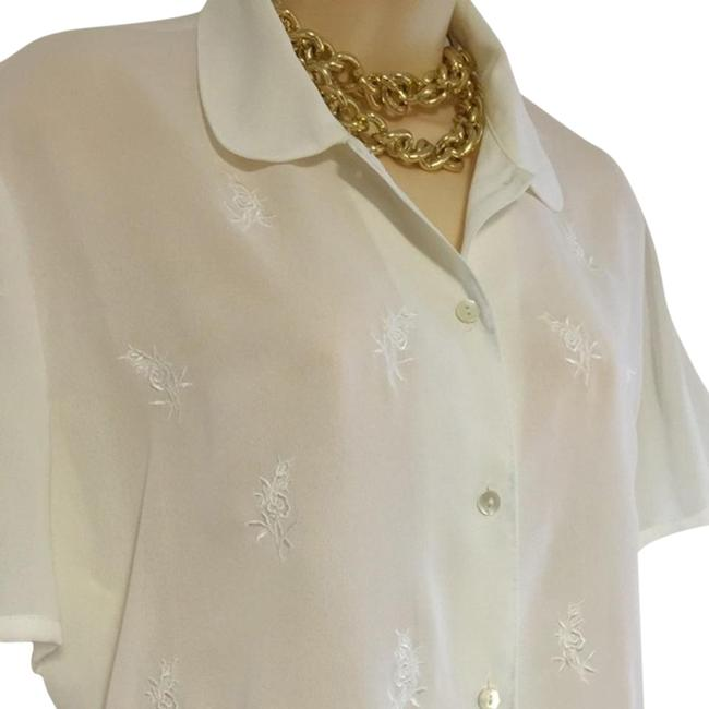 Laura Ashley Embroidered Blouse Size 14 (L) Laura Ashley Embroidered Blouse Size 14 (L) Image 1