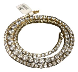 Other Y7600-N591G F aux Diamond Vermeil Gold Plated over Sterling Silver Necklace