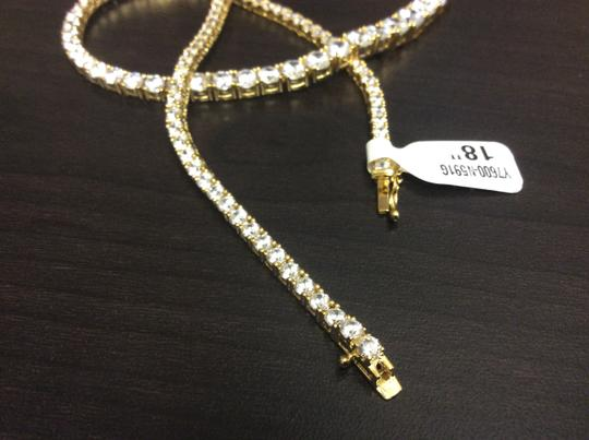 Other Y7600-N591G F aux Diamond Vermeil Gold Plated over Sterling Silver Necklace Image 3