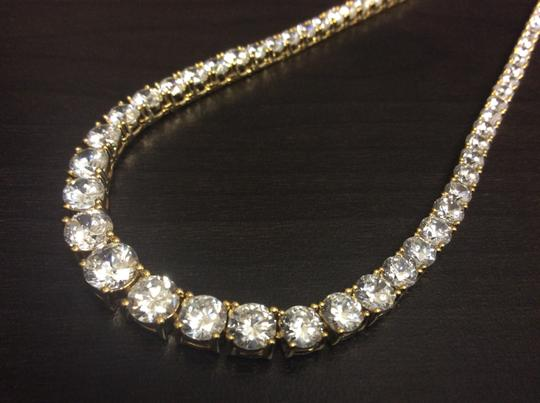 Other Y7600-N591G F aux Diamond Vermeil Gold Plated over Sterling Silver Necklace Image 4