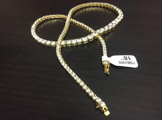 Other Y7600-N591G F aux Diamond Vermeil Gold Plated over Sterling Silver Necklace Image 5