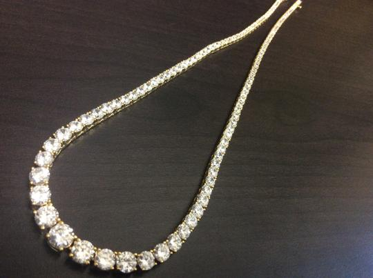 Other Y7600-N591G F aux Diamond Vermeil Gold Plated over Sterling Silver Necklace Image 6
