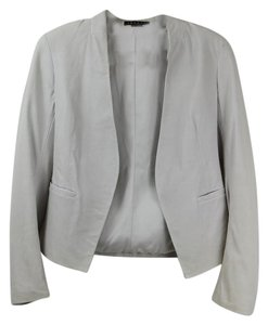 Theory Leather Leather Jacket White Leather Off White Blazer