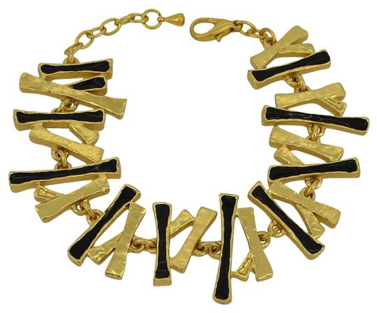 Other Enamel 24-kt Gold-Plated Pewter Statement Bracelet Image 0