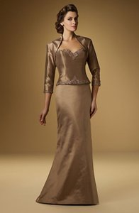 Rina DiMontella Taupe Mother Of The Bride Or Groom Dress 1518 Dress