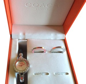 Coach Coach Stainless and Leather Watch w/Diamond Bezel