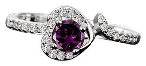 Other New Sterling Silver Plated Ring Size 8 Purple Cubic Zirconia J2675