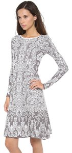 BCBGMAXAZRIA short dress NWT White/Grey White Lace White Lace on Tradesy