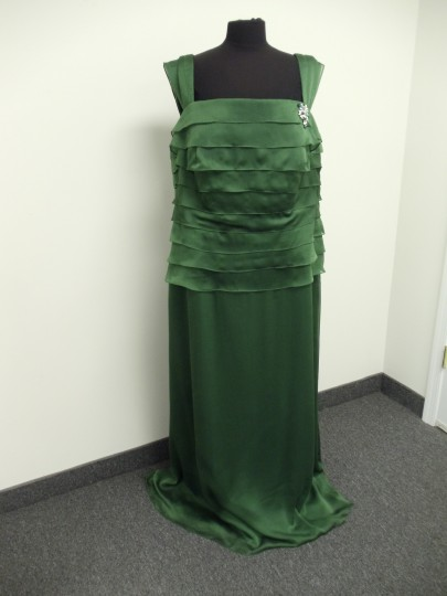 Alyce Paris Clover Green 29327 Bridesmaid/Mob Dress Size 22 (Plus 2x) Image 4