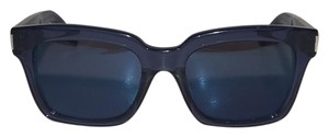 Saint Laurent Bold Blue Thick Frame Sunglasses
