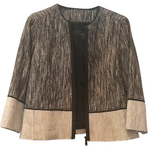 Elie Tahari Black and ivory Blazer