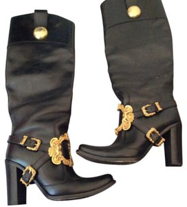 Dolce&Gabbana Black with gold buckle Boots