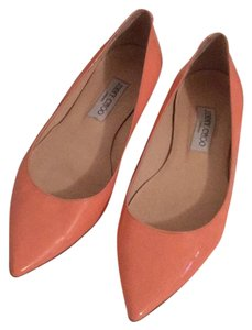 Jimmy Choo Peach Flats