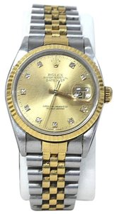 Rolex Vintage Men's Two Tone Rolex Datejust Oyster Perpetual with Diamond Face #16233