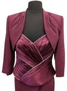 Montage By Mon Cheri Wine (Burgundy) Montage 211903 Dress