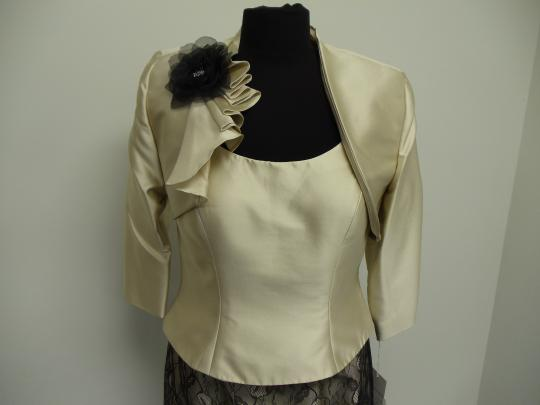 Social Occasions by Mon Cheri Beige Gold and Black 211823 Bridesmaid/Mob Dress Size 8 (M) Image 3