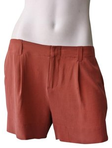 Joie Silk Dress Shorts Terracotta