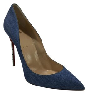 Christian Louboutin Pigalle Follies Blue Denim Pumps