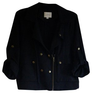 Ann Taylor LOFT Lightweight Casual Black Jacket