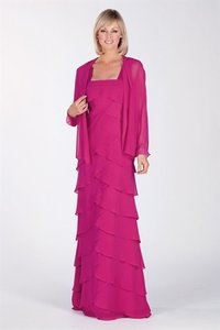 Alyce Paris Fuchsia 29472 Bridesmaid/Mob Dress Size 24 (Plus 2x)