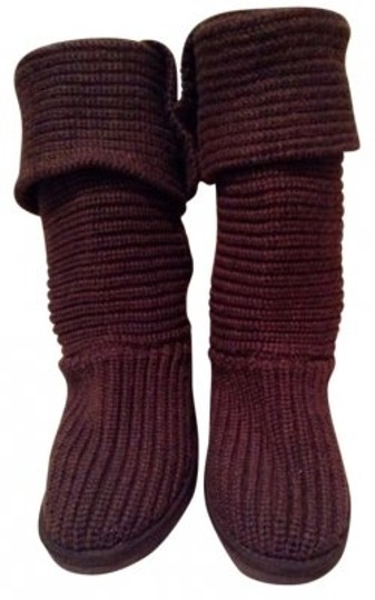Preload https://item4.tradesy.com/images/ugg-australia-brown-knit-for-bootsbooties-size-us-7-165073-0-0.jpg?width=440&height=440