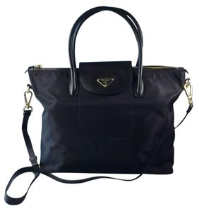 Prada Nylon Tessuto Satchel in Black