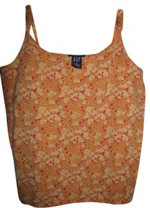 Gap Floral Sequin Top Orange, Yellow