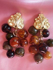 Other Vintage beaded clip-on earrings